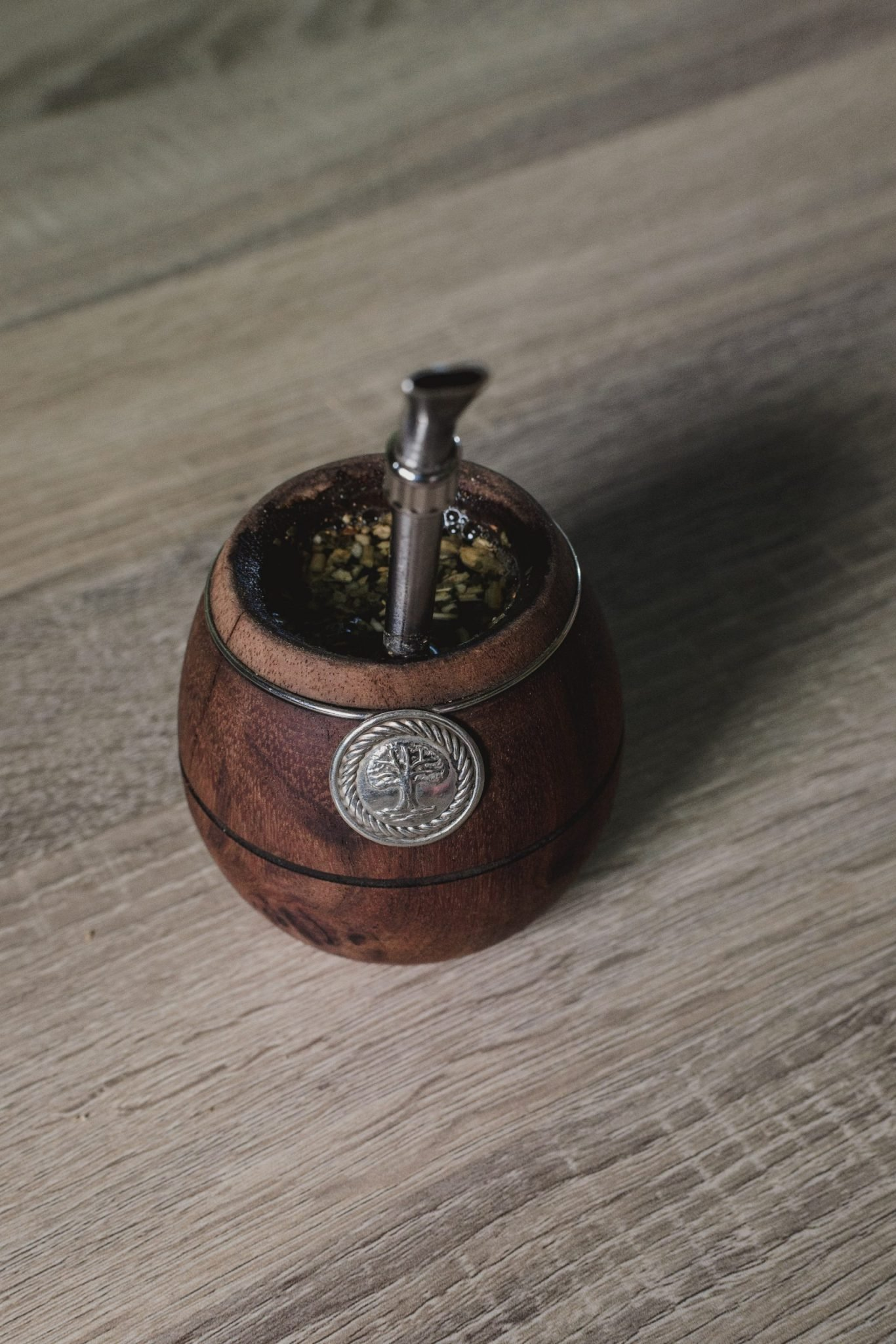 brown wooden mini barrel